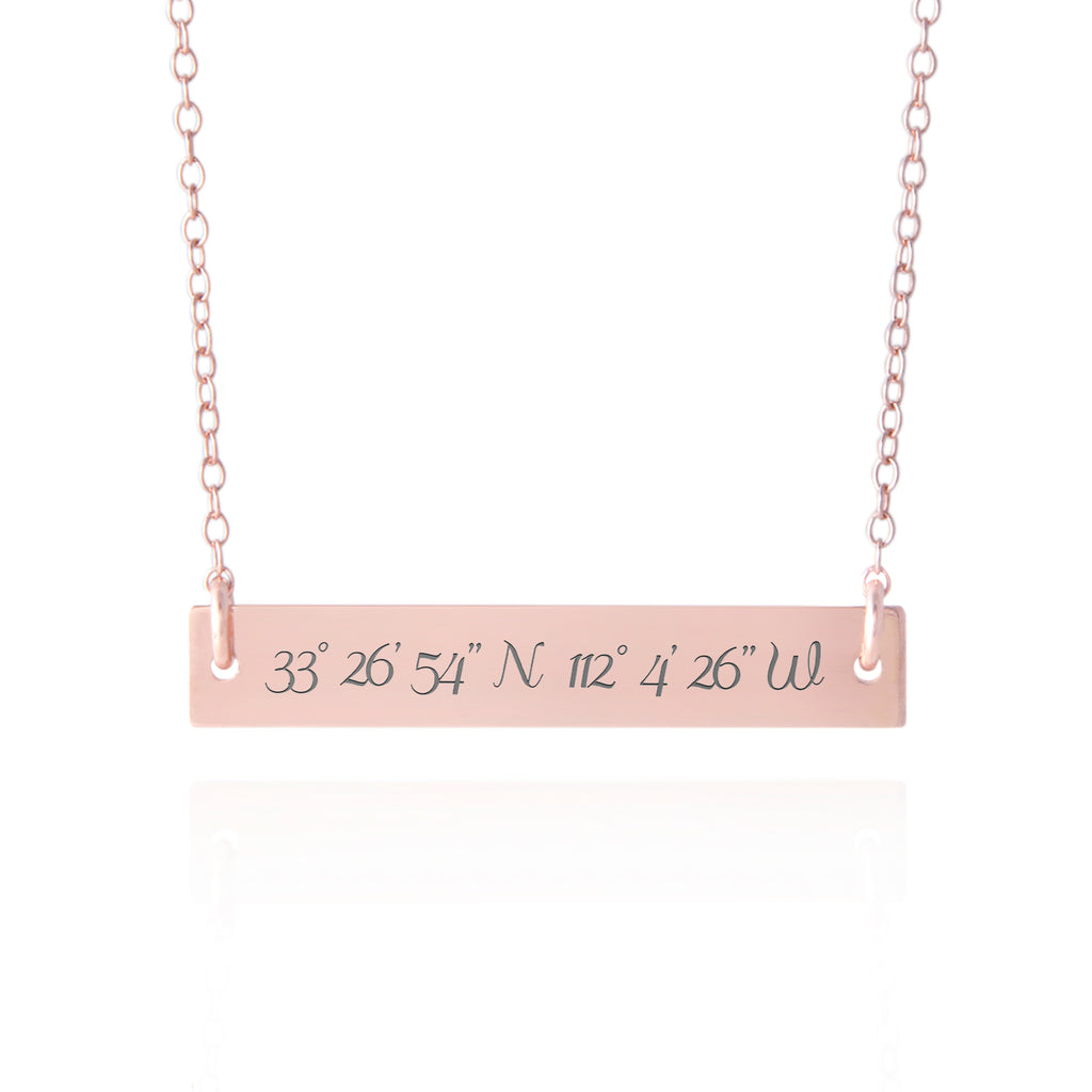 Rose Gold Coordinates Jewelry