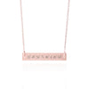 Rose Gold Coordinates Necklace