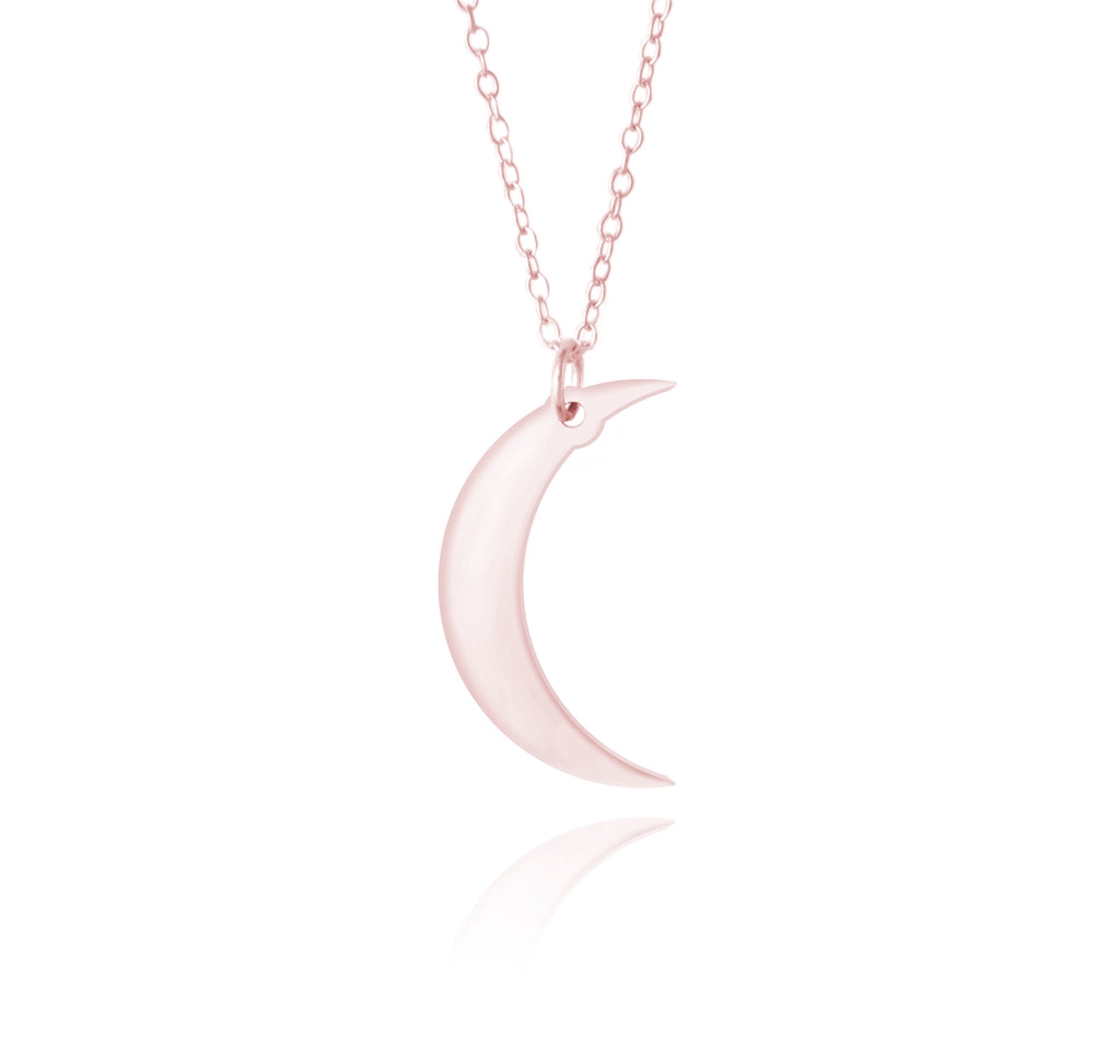 Rose Gold Moon Necklace