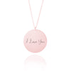 Handwriting Engraved Necklace