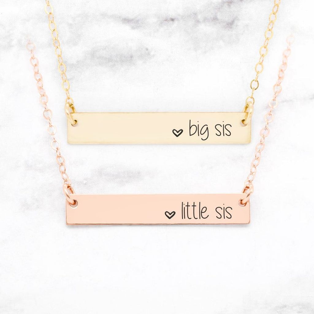 Sister Necklaces - Set of 2 Sister Necklaces