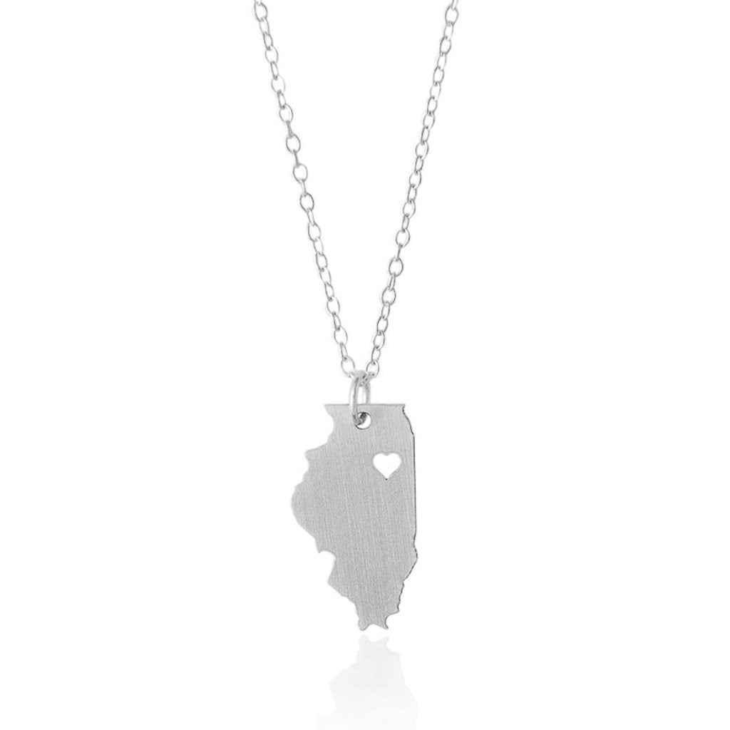 Illinois Necklace - A Sterling Silver Necklace