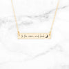 To The Moon And Back Necklace - Gold Quote Bar Necklace