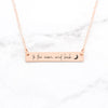 To The Moon And Back Necklace - Rose Gold Quote Bar Necklace