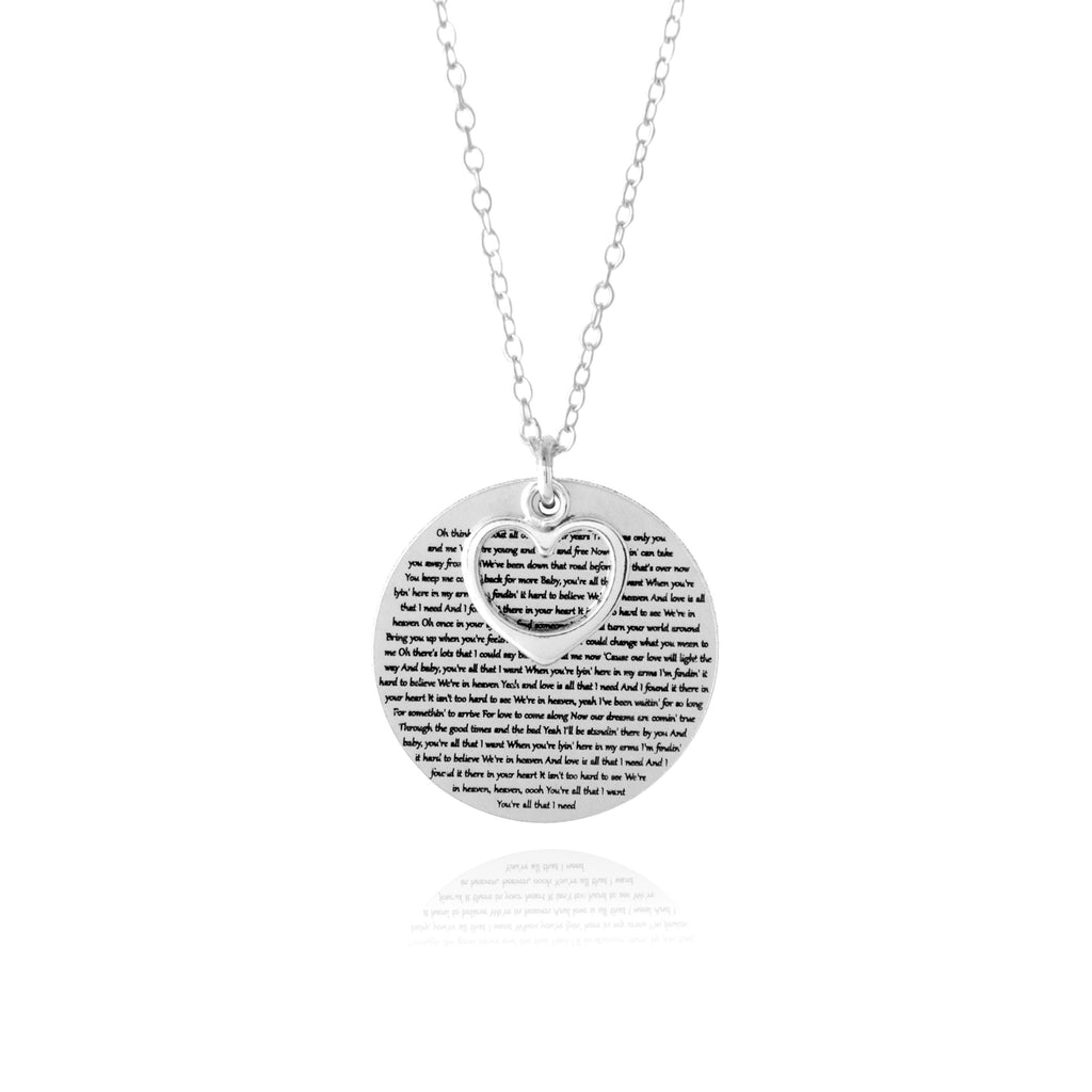 first dance song keepsake necklace