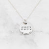 Where It All Began Necklace - Anniversary Coordinates Necklace