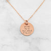 You Are My Sun My Moon And All Of My Stars - Custom Quote Necklace