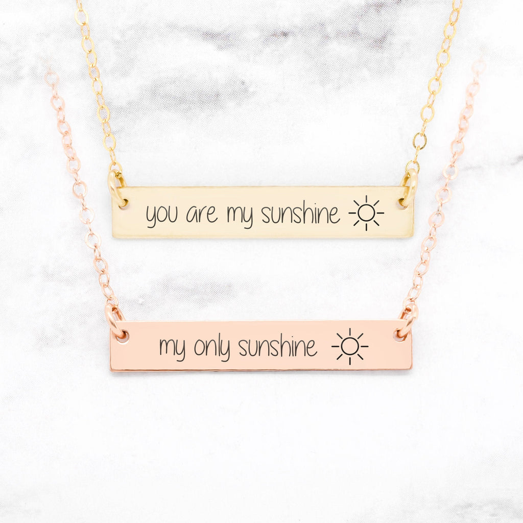 You Are My Sunshine Necklace - Set of 2 Mother Daughter Necklaces