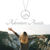 Mountain Necklace - Adventure Awaits - Sincerely Silver