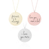 Custom Handwriting Necklace - Disc