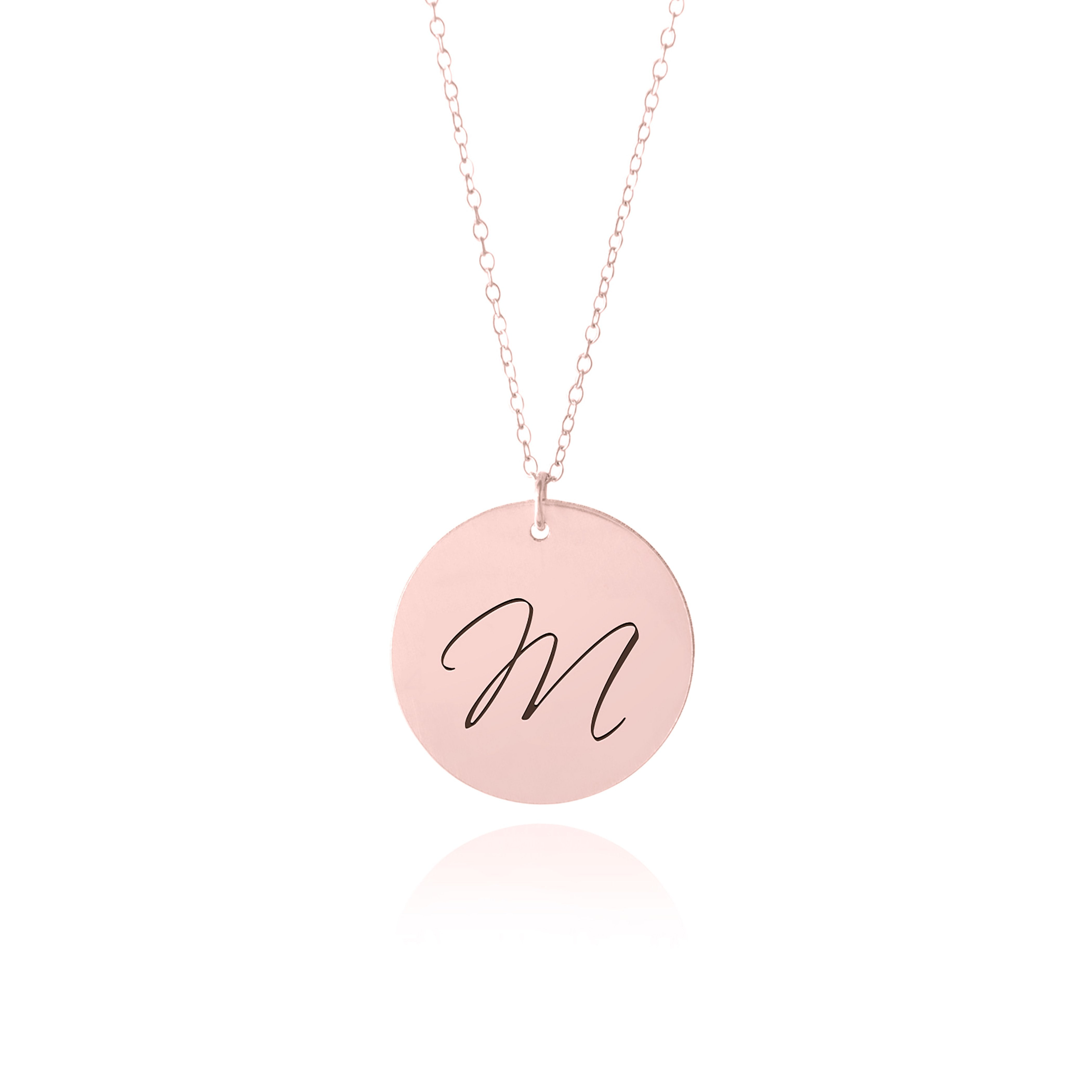 Rose Gold Initial Necklace Sincerely Silver