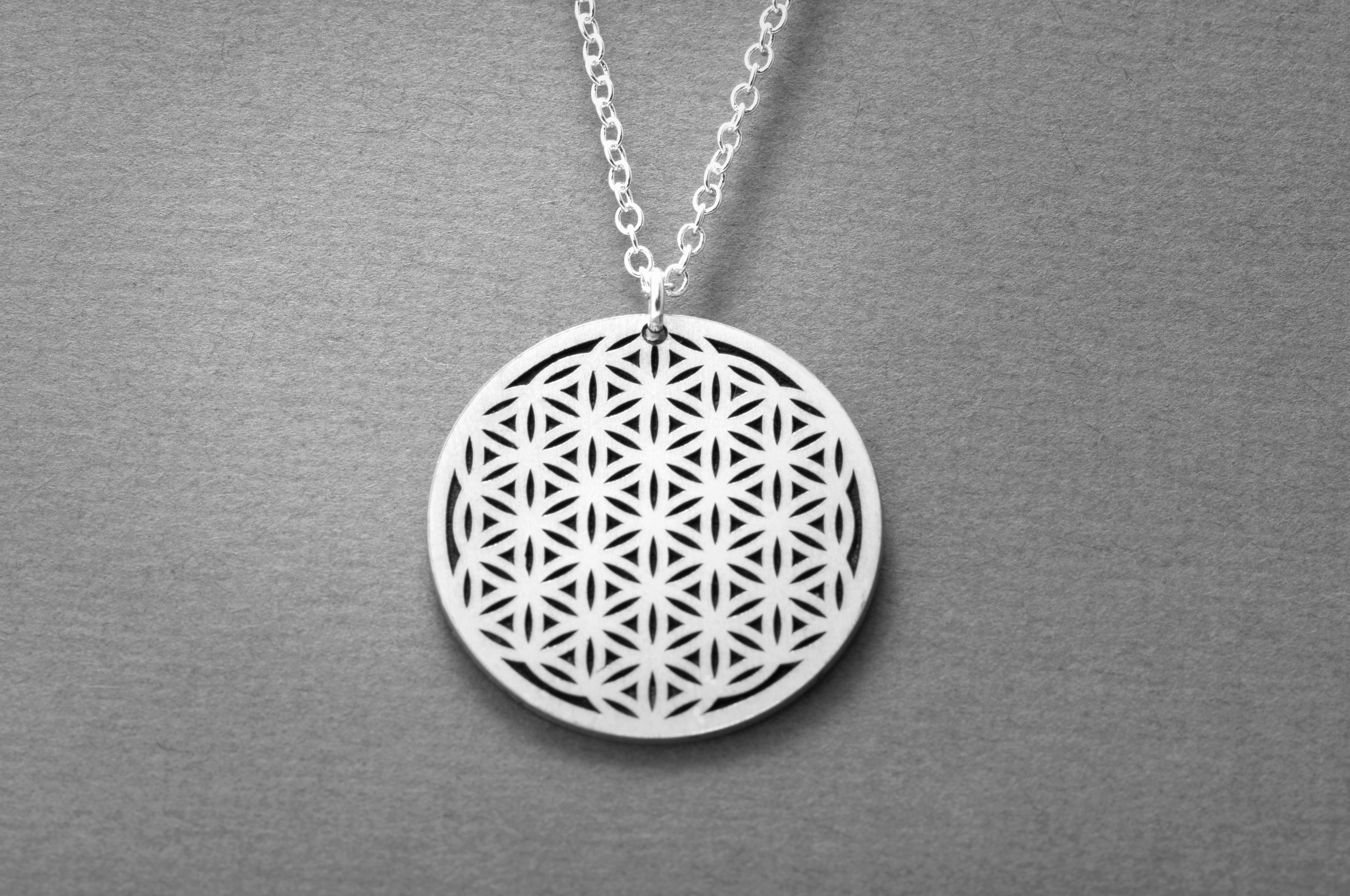 Flower Of Life Necklace Sacred Jewelry Sincerely Silver