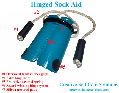 Hinged Compression Sock Aid ( Double  Spring )