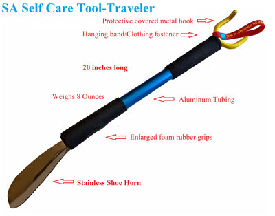 Traveler Dressing Stick with long shoe horn