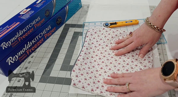 Printing on fabric using Freezer Paper