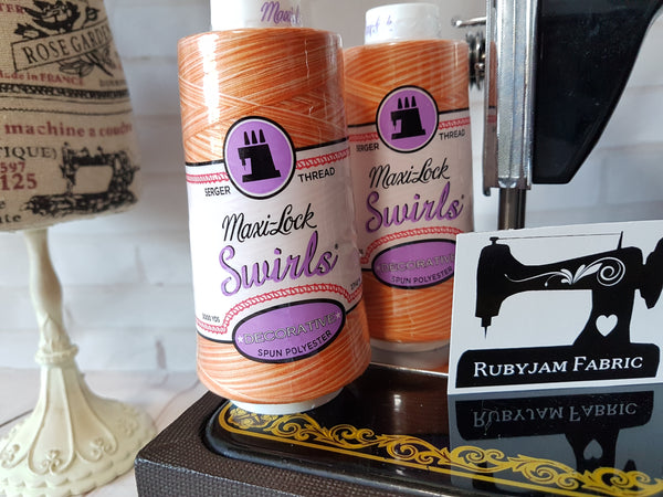 Maxi-Lock Swirls Thread - Orange Creamsicle
