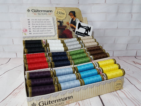 Gutermann 150M Sew-All Thread - Counter Display Box - 72 spools - clearance
