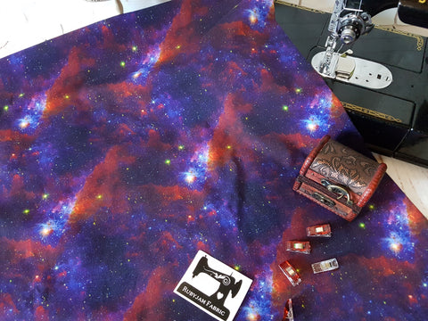 Intergalactic Star Print - cotton lycra - 150cm wide