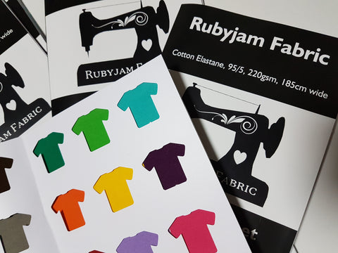 Rubyjam Fabric Swatch Card - Solid Cotton Lycra