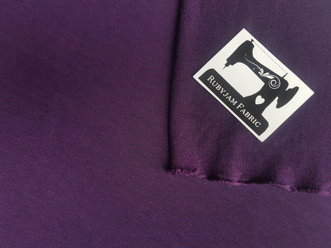 Purple Solid - Poly Rayon Lycra - French Terry - 150cm wide