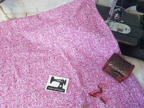 Pink Faux Glitter - cotton lycra - 150cm wide