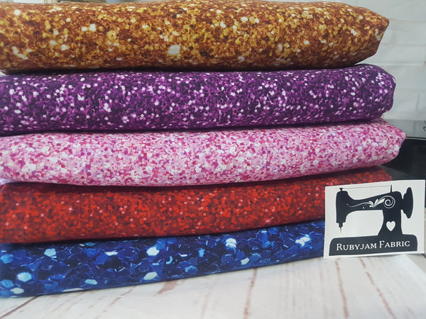 Gold Faux Glitter - cotton lycra - 150cm wide