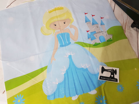 Cinderella Princess Panel. Sold per panel - clearance
