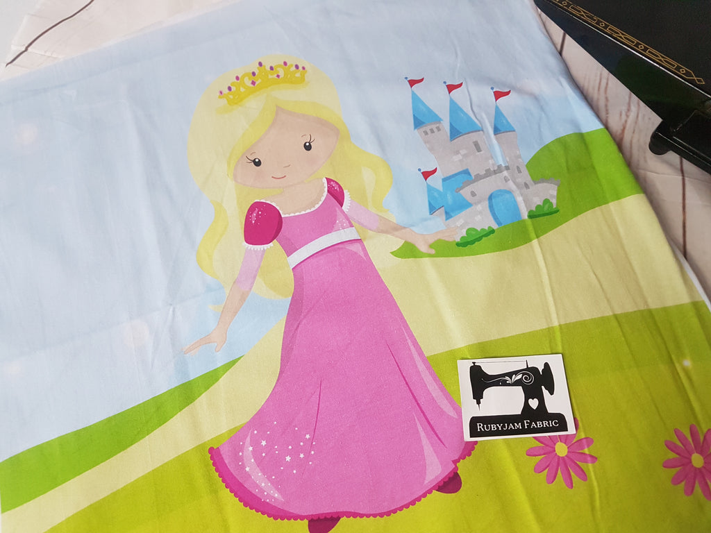 Sleeping Beauty Princess Panel. Sold per panel.
