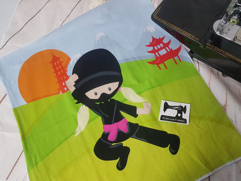 Ninja Girl Panel. Sold per panel - clearance