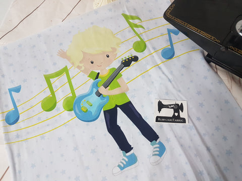 Boy Band Guitar Blonde Panel. Sold per panel.