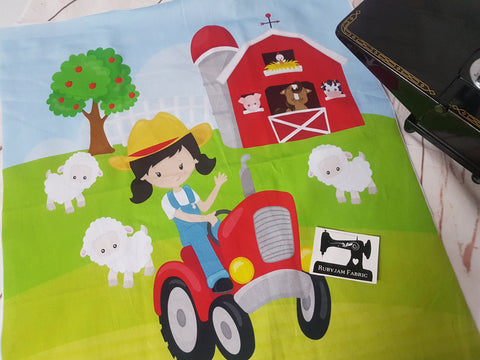 Farm Girl Panel. Sold per panel - clearance