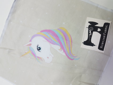 SMALL - Pastel Unicorn Panel. Sold per panel - clearance