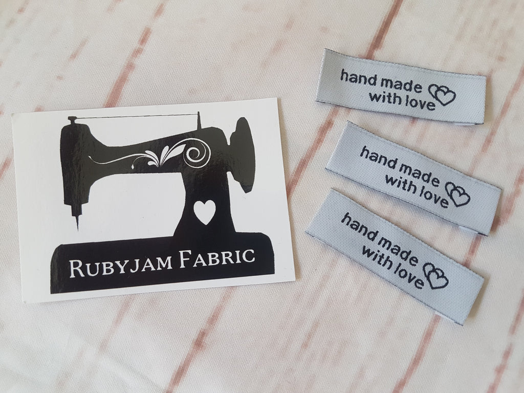 Grey HANDMADE - Clothing Labels - Pack of 15
