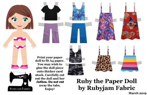 Ruby the Paper Doll - March 2019 Edition