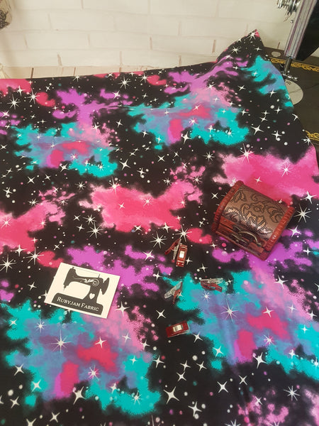 Cosmic Galaxy - cotton lycra - 150cm wide