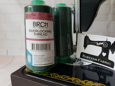Birch Overlocker thread, bottle green, 2500M