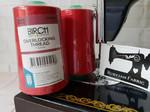 Birch Overlocker thread, red, 5000M