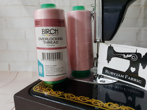 Birch Overlocker thread, pink, 2500M - clearance