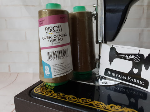 Birch Overlocker thread, khaki, 2500M