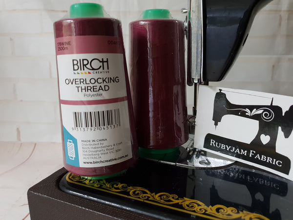Birch Overlocker thread, Wine, 2500M - clearance