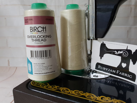 Birch Overlocker thread, natural, 2500M