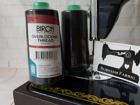 Birch Overlocker thread, black, 2500M