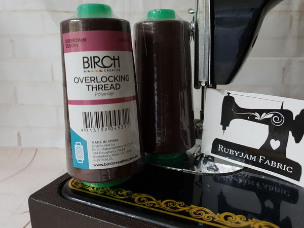 Birch Overlocker thread, brown, 2500M - clearance