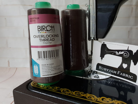 Birch Overlocker thread, brown, 2500M
