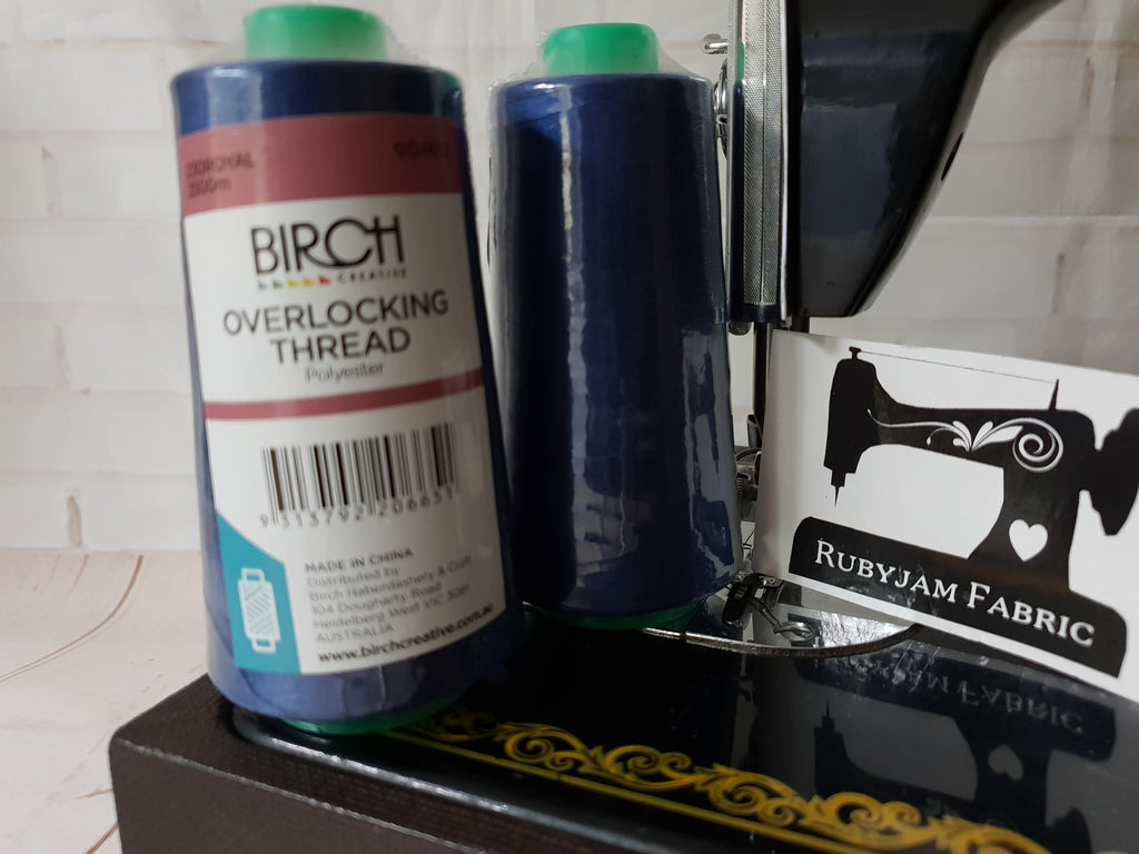 Birch Overlocker thread, royal blue, 2500M