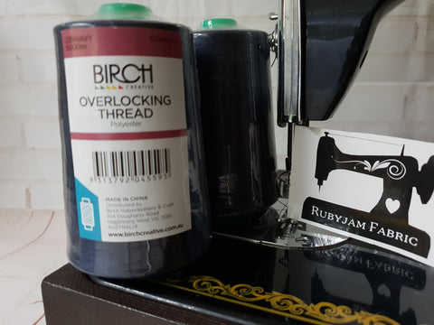 Birch Overlocker thread, navy, 5000M