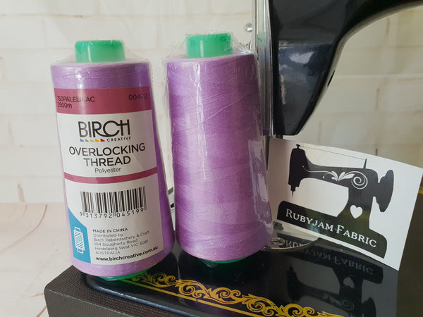 Birch Overlocker thread, Pale Lilac, 2500M - clearance