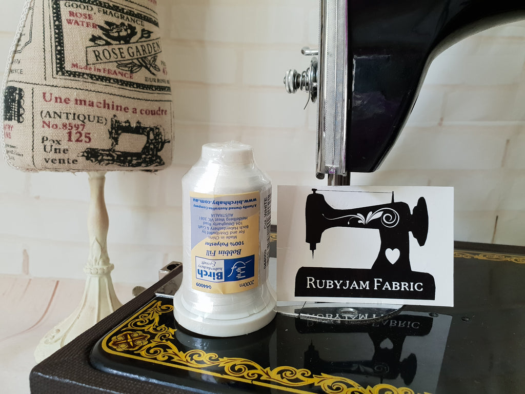 Birch Bobbin Fill Machine Embroidery Underthread White