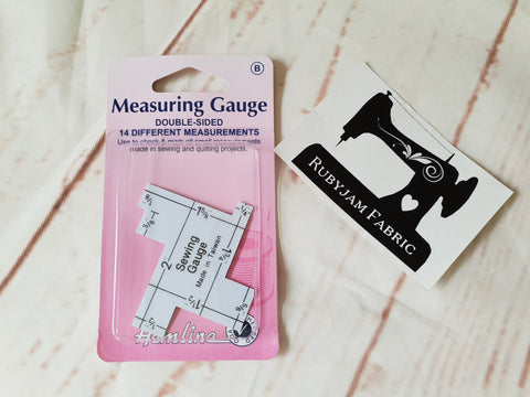 Hemline Measuring gauge, quilting sewing gauge, turn perfect hems
