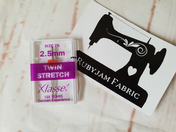 Klasse Twin Stretch Needle Size 75/11 2.5mm